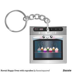 Kawaii Happy Oven with cupcakes