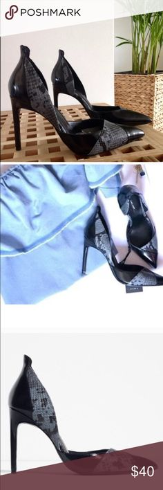 Zara contrast heels BRAND NEW Zara Shoes