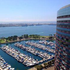 Gorgeous view of the San Diego marina! Photo by Ashley Addvensky. #sandiego #bay #boats