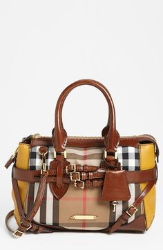 Burberry 'House Check' Small Satchel