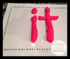 Sight Word Mats (Freebie),  Students create the sight words out of a variety of materials.