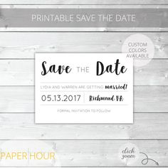 Printable Save the Date  Classic  Lydia Collection  by PaperHour