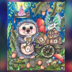 Markova, Prismacolor, Just Love, Enchanted, Coloring Books, Hedgehog, Fairy, Photo And Video, Awesome