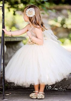 Flower girl tutu dress PAISLEY vintage lace by ChicSomethings, $80.00