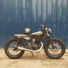 Small Motorcycles, Honda Motorcycles, Custom Motorcycles, Custom Bikes, Tracker Motorcycle, Moto Bike, Cafe Racer Bikes, Cafe Racer Build, Honda Cg125