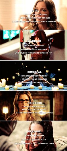 Perhaps she'll be the one you follow into battle #arrow