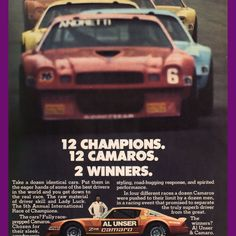 1978 Chevrolet Camaro Z28 IROC Al Unser Mario Andretti  Vintage Ad from West Coast Vintage for $10.00 on Square Market