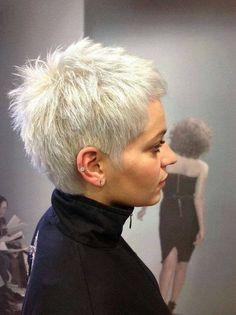 Choppy Hairstyle New Site Short Grey Hair choppy Hairstyle site Super Short Hair, Short Grey Hair, Short Straight Hair, Short Hair Cuts For Women, Long Bob, Short Spiky Hairstyles, Short Pixie Haircuts, Straight Hairstyles, Formal Hairstyles