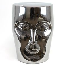Stephen Garden Stool In Silver