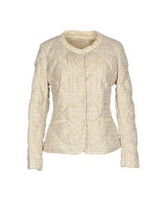 VIOLANTI Women's Down jacket Beige 10 US