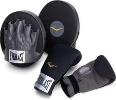 Amazon.com : Everlast 3010 Boxing Fitness Kit, Black/Grey : Boxing And Martial Arts Protective Gear Boxing Training Gloves, Boxing Gloves, Boxing Workout, Boxing Fitness, Warrior Workout, Workout Men, Best Punching Bag, Boxing Practice, Kids Punch