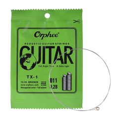 Amazon.com: Getaria GE-MGS-TX-1-1ST-E010-02 Single String Replacement for Acoustic Folk Guitar 1st E-String (.010) 10-Pack High-carbon Steel Core 75/25 Phosphor Bronze Extra Light Tension: Musical Instruments Acoustic Guitar Strings, High Carbon Steel, Musical Instruments, Musicals, Folk, Bronze, Amazon, Music Instruments, Amazons