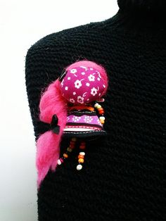 maramanufaktura / brošňa mini MARA tajomná /pink/