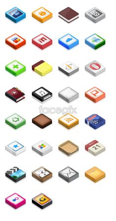 Square mobile icons