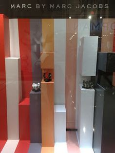 displayhunter: Urban Icon: Marc by Marc Jacobs stripes Fashion Window Display, Window Displays, Marc Jacobs, Urban Icon, Retail Windows, Visual Merchandising, Style Icons, Stripes, Home