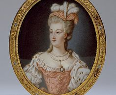 1778 miniature or Marie-Antoinette by Anne Vallayer-Coster (Walters Art Museum, Baltimore USA)