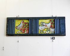 Amy Cloud, an artist from North Bennington, will showcase her hen and chicken paintings on repurposed material at the One of a Kind art show and sale in Chicago next weekend.