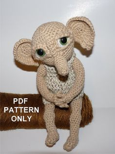 Hobby the House Elf (Pattern Only) inspired by Dobby from Harry Potter One day I'll be good enough to do this (I hope)