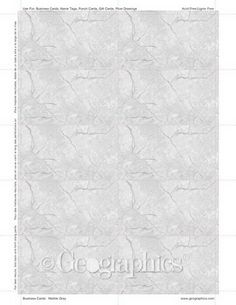 Marble Gray Business Cards, 2x3.5, 250/PK