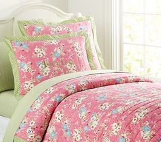 I love the Victoria Quilted Bedding on potterybarnkids.com