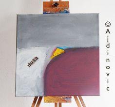 Contemporary Painting Canvas Art Abstract Wall by AjdinovicStudio