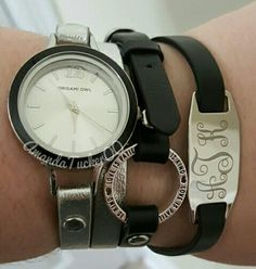 Arm party with an Origami Owl watch and wrap bracelets. Create your own custom look at amandatucker.origamiowl.com