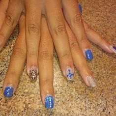 Gel Polish, Blue,nude,diamonds