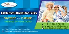 Grace Solution offers term plan comparison of Retirement plan policy can ensure financial strong you in your aged look like golden dreams.