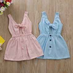 Baby Girl's Solid Tie Knot Front Ramie Cotton Dress TYChome baby girls baby boy… - Baby Clothes Newborn Baby Girl Dress Patterns, Baby Clothes Patterns, Dresses Kids Girl, Cute Baby Dresses, Baby Boy Clothes Hipster, Vintage Baby Clothes, Baby Girl Clothes Summer, Guy Clothes, Baby Outfits Newborn