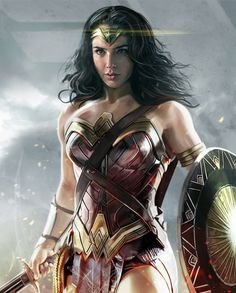 Wonder Woman from DC Comics movie, pretty digital drawing done by artist David Benzal Wonder Woman Outfit, Wonder Woman Art, Wonder Woman Comic, Gal Gadot Wonder Woman, Superman Wonder Woman, Wonder Women, Marvel Dc, William Moulton Marston, Supergirl