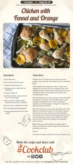 #CookClub recipe No. 37: Chicken with Fennel & Orange
