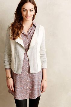 Cropped Terry Moto Jacket - anthropologie.com