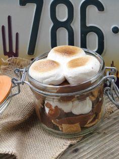 Dessert biscuit Graham, chocolat et guimauves grillées : S'mores In a Jar  {Battle Food # 9}