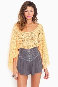 Asteria Crochet Shorts - NASTY GAL - StyleSays