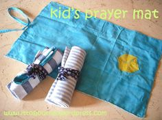 child's prayer mat - kids could make their own using pillow case and fabric paint