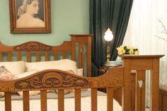 Art Nouveau Bed - Art Nouveau Tulip - Lacewood Furniture