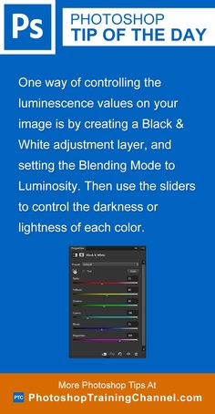 One way of controlling the luminescence values on your image is by creating a Black and White adjustment layer, and setting the Blending Mode to Luminosity. Then use the sliders to control the darkness or lightness of each color.