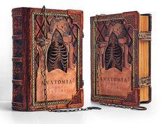 8 x 10  Anatomia Humani Corporis leather journal