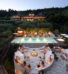 Auberge du Soleil resort near Napa Valley....the view from the restaurant is amazing!