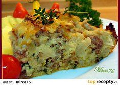 Květákový nákyp s mletým masem a bylinkami Baked Potato, Quiche, Potato Salad, Mashed Potatoes, Food And Drink, Treats, Baking, Breakfast, Ethnic Recipes