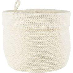 PENTIK - Juli Virkattu Kori Korn, Laundry Basket, Straw Bag, Wicker, Crochet, Home Decor, Decoration Home, Room Decor, Chrochet