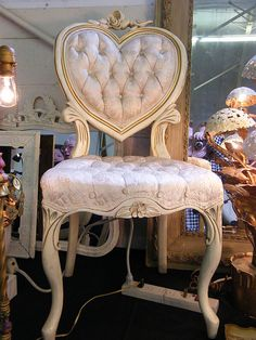 Antique Heart Chair and this will go with my dream vanity by my dream closet!