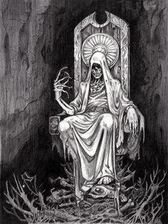 Een heel ander soort Hades, meer als Magere Hein Arte Horror, Horror Art, Fantasy Kunst, Fantasy Art, Dope Kunst, Grim Reaper Art, Death Art, Satanic Art, Evil Art