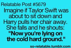 Oh my gosh that would be sooo funny.
