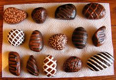 Painted rocks: chocolate truffles by Nevuela on DeviantArt