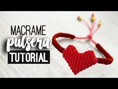 Bracelet with heart ♥ ︎ macrame tutorial Macrame Bracelet Tutorial, Macrame Bracelets, Macrame Rings, Micro Macramé, Macrame Knots, Macrame Owl, Bracelet Crafts, Macrame Patterns, Heart Bracelet