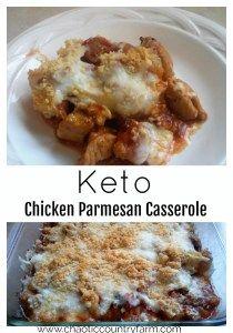 Keto Chicken Parmesan Casserole - Chaotic Country Farm
