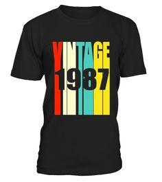 Retro Vintage 1987 T-Shirt 30 yrs old Bday 30th Birthday Tee  Funny Birthday T-shirt, Best Birthday T-shirt