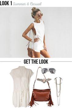 Summer & Casual | Look relax para o verão. | All White: Como usar looks brancos | Usando as peças do Réveillon o ano todo. #moda #look #inspiração #outfit #dicas #styling #branco #white #looknowlook