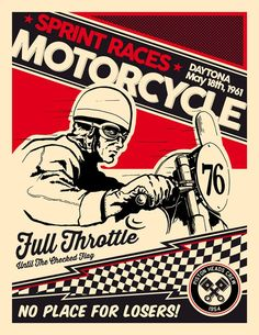 Oil&Ink is a traveling motorcycle art show by artists working in art from around the world. The show was founded in 2013 by John Christenson of Staghead Moto. Bike Poster, Motorcycle Posters, Poster Ads, Motorcycle Art, Bike Art, Vintage Racing, Vintage Cars, Motos Vintage, Vintage Motorcycles